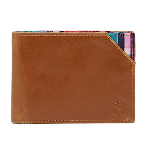 Robert Graham Men's Brighton Leather RFID Bifold, One size, Cognac