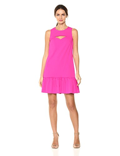 Trina Trina Turk Women's Shea Dress, Brilliant Fuchsia, M