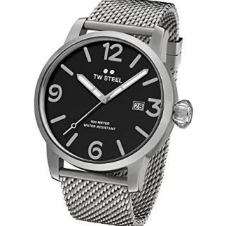 TW Steel Men's 'Maverick' Quartz Stainless Steel Casual Watch, Color:Silver-Toned (Model: MB12)