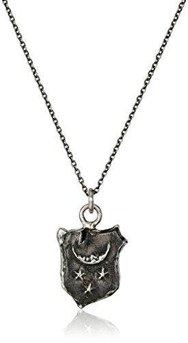 Pyrrha Unisex Contemplation Sterling Silver Petite Talisman Pendant Necklace