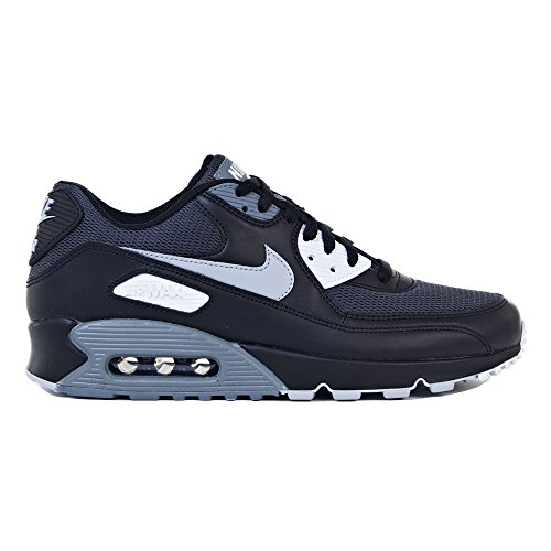 NIKE Mens Air Max 90 Essential Running Shoes Black/Wolf Grey/Dark Grey Size 8