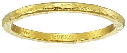 Gurhan Skittle High Karat Gold Stacking Ring, Size 6.5