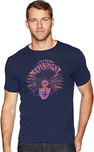 John Varvatos Star USA Men's Mind Experiment Graphic Tee KG3863U2B Navy Medium