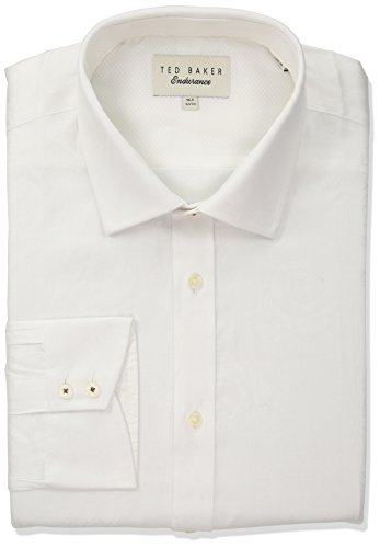 "Ted Baker Men's Anook Slim Fit Dress Shirt, White, 16"" Neck 34""-35"" Sleeve"