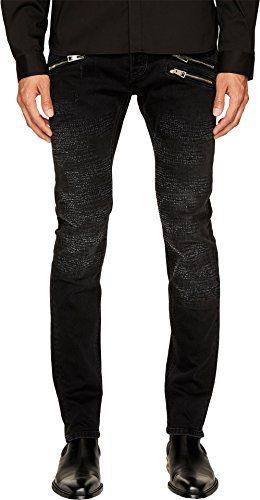 Just Cavalli Men's Destroyed Zipper Jeans Black Jeans