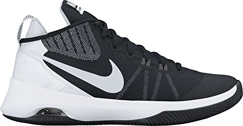 NIKE Mens Air Versitile Basketball Shoe Black/Metallic Silver-Dark Grey Size 12