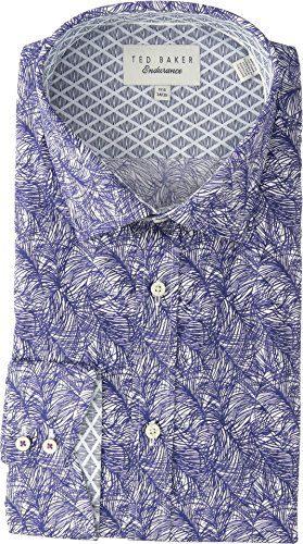 Ted Baker Men's Messera Endurance Dress Shirt Navy 17.5-34/35