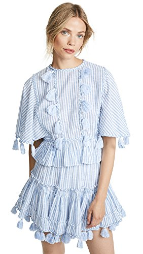 Misa Women's Seta Top, Blue Stripe, X-Small