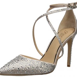 Badgley Mischka Jewel Women's Tanya Pump, Champagne, 7.5 Medium US