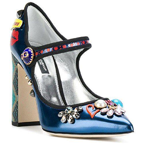 Dolce & Gabbana Women's Multi-Color Patent Leather Pumps - Heels Shoes - Size: 36 EU