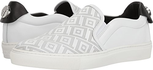 Versace Collection Men's Greca Slip-on White/Black/Gold/Nickel 45 M EU