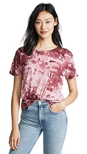 Enza Costa Women's Boy Tee, Sangria Pantina, X-Small
