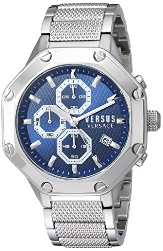 Versus by Versace Men's 'Kowloon' Quartz Stainless Steel Casual Watch, Color:Silver-Toned