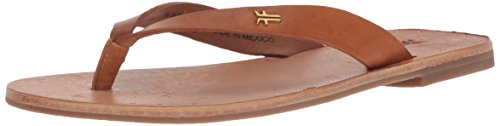 FRYE Women's Ally Logo Flip-Flop, Brown, 7 M US