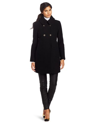Trina Turk Women's Chloe Text Coat, Black, 10
