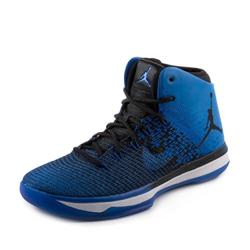 Jordan Men's Air XXXI, Black/Game Royal-White, 10.5 M US