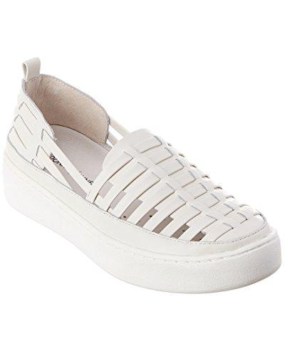 Donald Pliner Cierra Leather Sneaker, 7.5, White