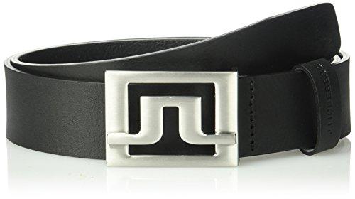 J.lindeberg Men's Slater Pro Leather Belt, black, 100