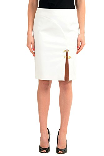 Versace Versus White Women's Pencil Skirt US S IT 40