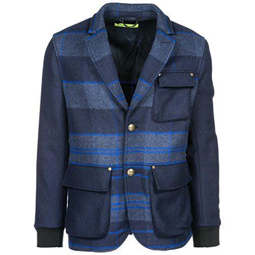 Versace Jeans Men's Jacket Blazer blu US Size 48 (US 38)