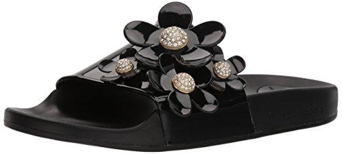 Marc Jacobs Women's Daisy Pave Aqua Slide Sandal, Black, 38 M EU (8 US)