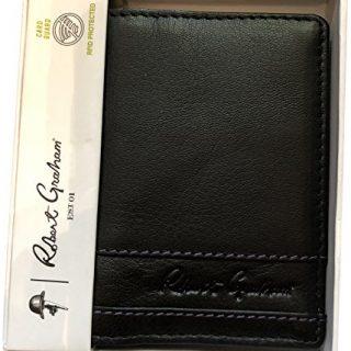 Robert Graham Men's Rumford RFID ID Protection Card Case Wallet Black