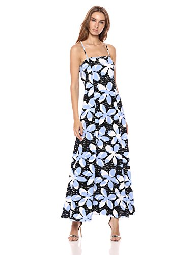 A|X Armani Exchange Women's Tropical Tie Back Dress, Pantelleria Flower White o, 6