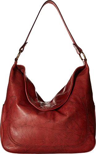 FRYE Campus Large Rivet Hobo, Burnt Red