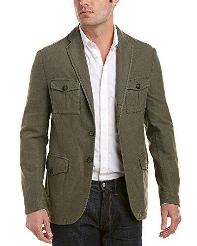 J.Lindeberg J. Lindeberg Mens Hopper Linen-Blend Sport Coat, 48L, Green