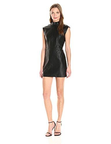 Dolce Vita Women's Vegan Leather Mimi Dress, Black, L