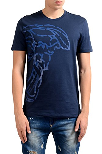 Versace Collection Men's Blue Graphic Print T-Shirt US 2XL IT 56;