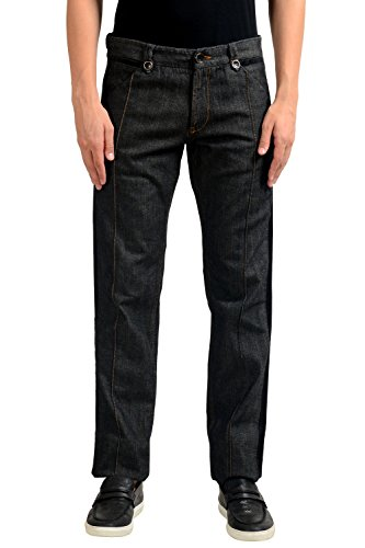 Just Cavalli Men's Dark Gray Denim Casual Pants US 33 IT 49