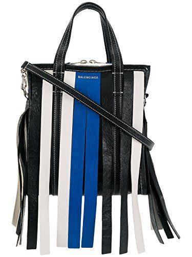 Balenciaga Women's Blue/Black Leather Handbag