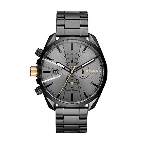 Diesel Men's 'Ms9 Chrono' Quartz Stainle, Steel Casual Watch, Color:Black (Model: DZ4474)