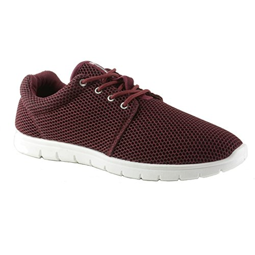 alpine swiss Kilian Fashion Sneakers Lightweight Trainers Lace up Casual Shoes Burgundy 5 M US
