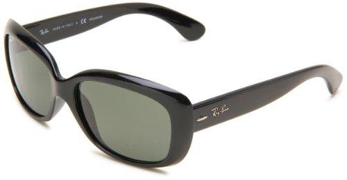 Ray-Ban Square Sunglasses,Black Frame/Lens:Polarized Gray-Green Lens,One Size