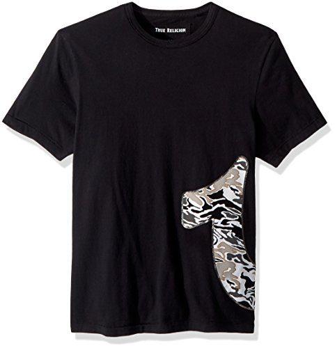 True Religion Men's Camo Horseshoe Tee, True Black, XL