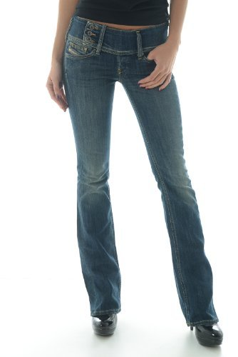 Diesel Blue Women's Cherock Slim Boot Cut Jeans (27 Long 32)