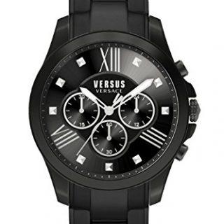 Versus by Versace Men's Chrono Lion Analog Display Quartz Black Watch