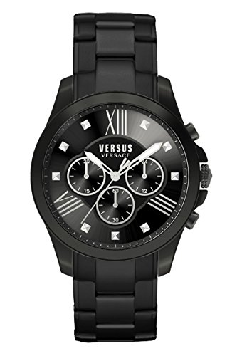 Versus by Versace Men's Chrono Lion Analog Display Quartz Black Watch