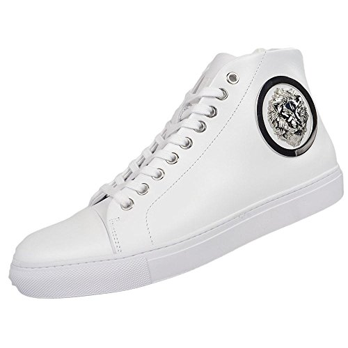 Versace Versus Leather High Top White Trainer 11