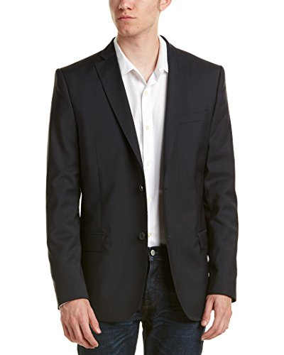 J.Lindeberg Men's Hopper Signature Single-Breasted Blazer, Dark Blue, 52 Long