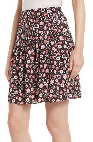 Kate Spade New York Women's Mini Casa Flora Skirt, Black, Size 10
