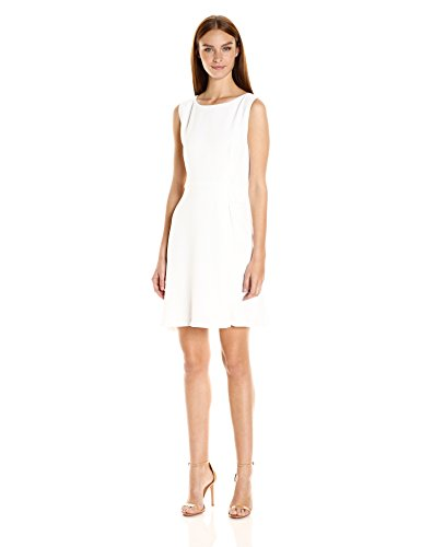 A|X Armani Exchange Women's Sleeveless 'Faux Belt Dress, Cristallo, 8