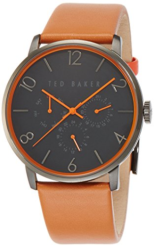 Ted Baker Men's Classic Analog Display Japanese Quartz Brown Watch