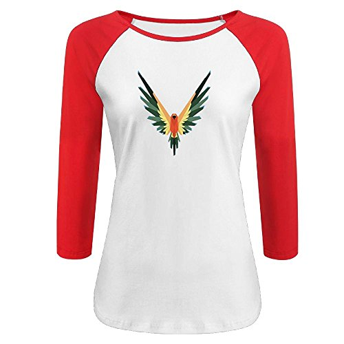 qingjin Womens Parrot Logo Logan Paul 3/4 Sleeve Raglan Baseball T-Shirt