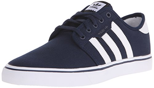 Adidas Men's Seeley Skate Shoe, Collegiate Navy/White/Black, 9.5 M US
