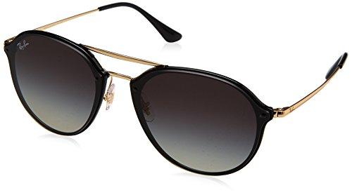 Ray-Ban blaze Doublebridge Square Sunglasses, Black, 62 mm