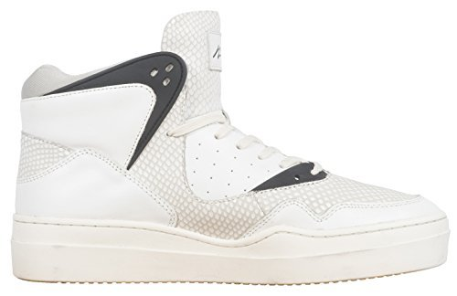 Article Number Nº Mens High Top Sneakers Shoes White/Black (10.5)