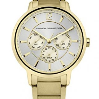 French Connection Women's Quartz Metal and Stainless Steel Casual Watch, Color:Gold-Toned